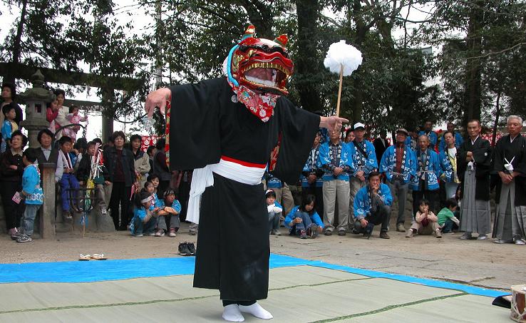 川合獅子舞